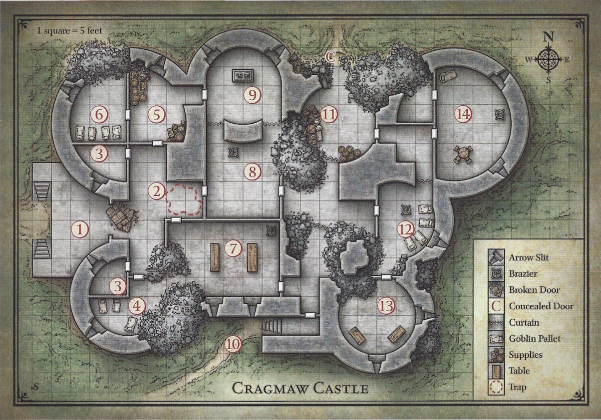 D&D dnd starter set map cragmaw castle