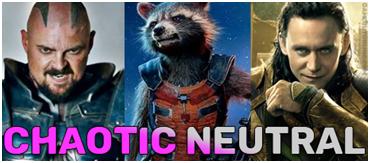 chaotic neutral D&D dnd aligment marvel MCU