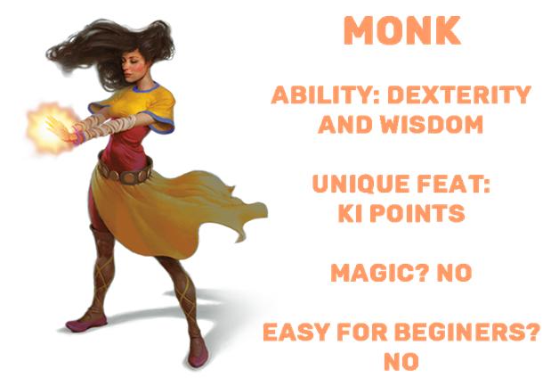 D&D dnd monk class